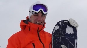 Roddy Clarke, off-piste, snowboard instructor, val disere, hat trainer