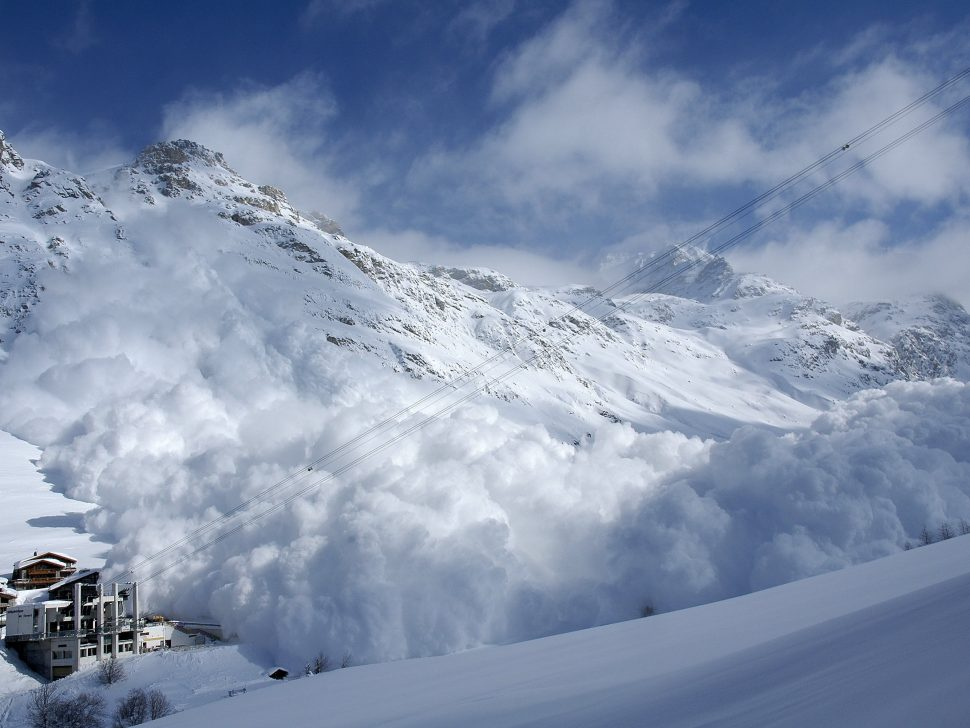 Avalanche, Fornet Val d'Isere