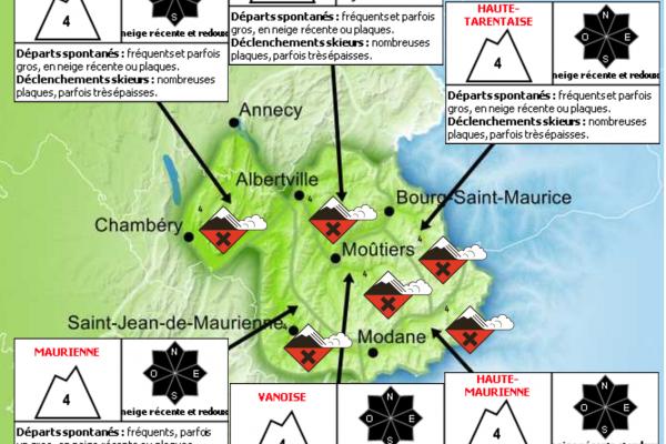 Avalanche Bulletin Savoie March 8th