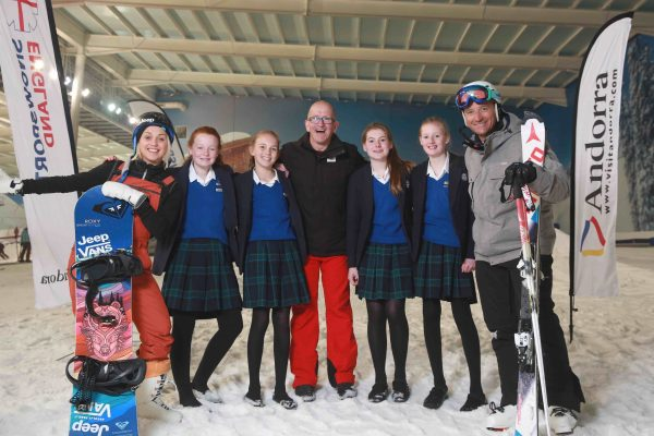 Eddie The Eagle, Aimee Fuller, Graham Bell National School Snowsports Week